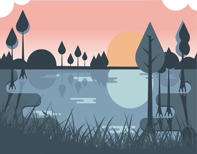 get bayou illustration here perfect for your poster or web banner