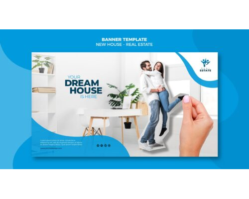 New house real estate banner