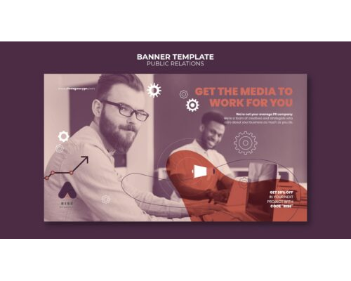 Public Relations Banner Template