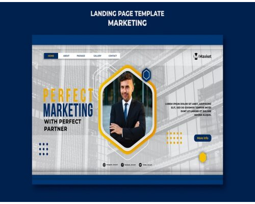 arketing business landing page template
