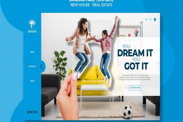 new house real estate landing page