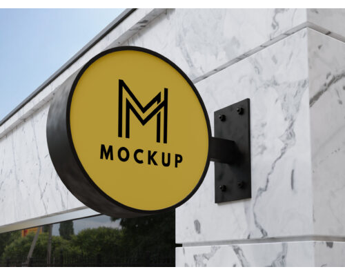 Outdoor Business Sign Mock Up