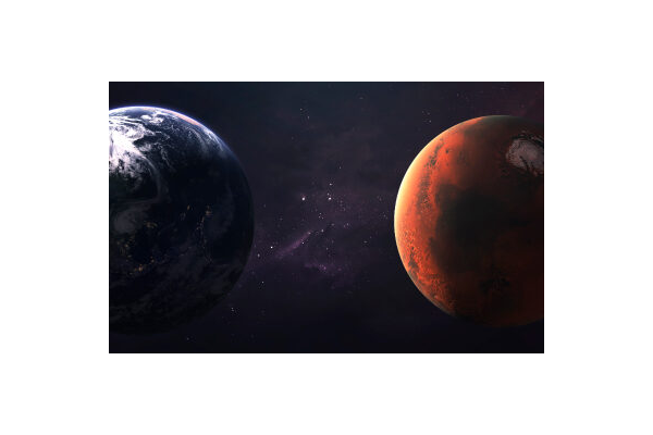 Earth and Mars Closest Approach